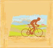 Old retro Cycling  Poster Stock Photo