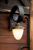 Old  retro electric street lamps made of metal style Royalty Free Stock Photo