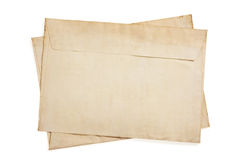 Old retro envelope isolated on white Royalty Free Stock Photography