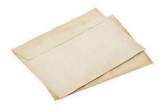 Old retro envelope on white Royalty Free Stock Photos