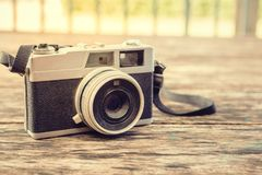 Old retro film camera. Stock Photography