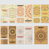 Old retro geometry Vintage style background Design Template Royalty Free Stock Photo