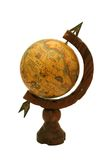 Old retro globe isolated on white Stock Photography