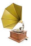 Old retro gramophone cutout royalty free stock photo