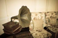 Old retro gramophone royalty free stock image