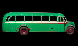 Old retro green bus. Stock Photography
