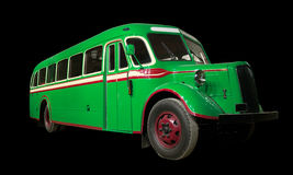 Old retro green bus. Stock Images