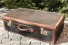 Old retro leather suitcase Royalty Free Stock Images