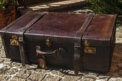 Old retro leather suitcase Royalty Free Stock Image