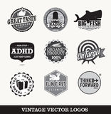 Vintage logo designs Royalty Free Stock Image