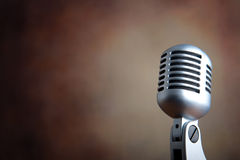 Old retro microphone Royalty Free Stock Image