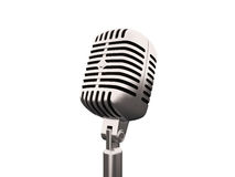 Old retro microphone. Illustration old retro microphone on white background Stock Photo
