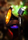 Old retro microphone Stock Photography
