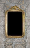 Old Retro Mirror on the Wall Royalty Free Stock Image