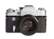Old retro 35mm film camera Royalty Free Stock Images
