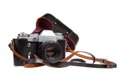 Old retro 35mm film camera Stock Image