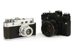 Old retro 35mm film cameras Royalty Free Stock Image