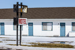 Old Retro Motel Royalty Free Stock Images