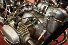 Old retro motorcycle engine Royalty Free Stock Images