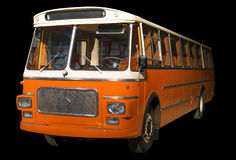 Old retro orange bus. Stock Image
