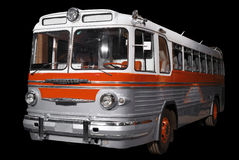 Old retro orange bus. Stock Images