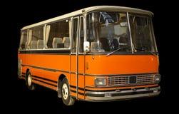 Old retro orange bus. Stock Photos
