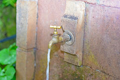 Old retro outdoors water faucet Royalty Free Stock Photos