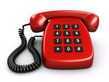Old retro phone with a digital numpad Stock Photo