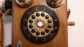 Old retro phone disk Royalty Free Stock Image