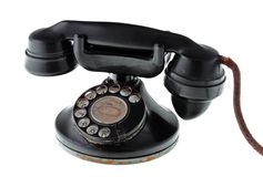 Old retro phone isolated Stock Photography