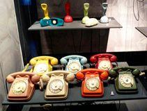 A old retro phones. In Milano captured by me Royalty Free Stock Photos