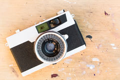 Old retro photo camera Royalty Free Stock Photos