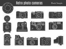 Old retro photo camera set Royalty Free Stock Image