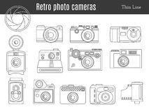 Old retro photo camera set Royalty Free Stock Photo