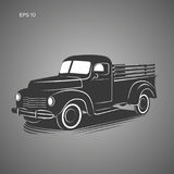 Old retro pickup truck vector illustration icon. Vintage transport vehicle. Old retro pickup truck vector illustration Royalty Free Stock Photo
