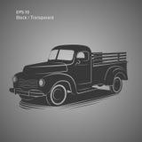 Old retro pickup truck vector illustration icon. Vintage transport vehicle. Old retro pickup truck vector illustration Stock Images