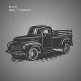 Old retro pickup truck vector illustration. Vintage transport vehicle. Old retro pickup truck vector illustration Royalty Free Stock Photography