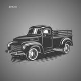 Old retro pickup truck vector illustration. Vintage transport vehicle. Old retro pickup truck vector illustration Royalty Free Stock Photos
