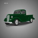 Old retro pickup truck vector illustration. Vintage transport vehicle. Old retro pickup truck vector illustration Royalty Free Stock Images