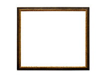 Old retro picture frame, isolated on white Stock Photography