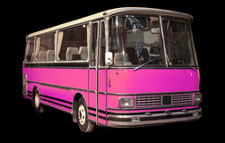 Old retro pink bus. Stock Photography