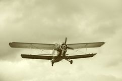 Old retro plane Royalty Free Stock Photo