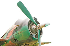 Old retro plane. On a white background Royalty Free Stock Images