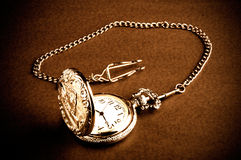 Old retro pocket watch Stock Image