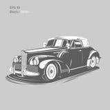 Old retro pre-war roadster vector illustration.  Vintage car. Old vintage retro pre-war roadster vector illustration Royalty Free Stock Images