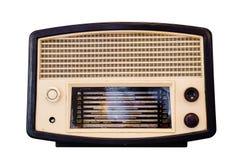 Old retro radio. Isolate on white background Royalty Free Stock Photo