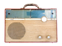 Old retro radio. Isolate on white background Royalty Free Stock Image