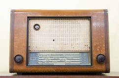 Old retro radio. Old vintage retro sound radio Royalty Free Stock Photography