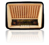 Old retro radio. Isolated on white Stock Photo