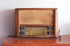 Old retro radio. Close-up Stock Photo